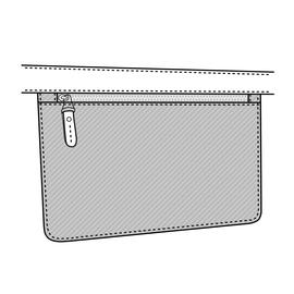 Tasche mit Reißverschluss 28x17