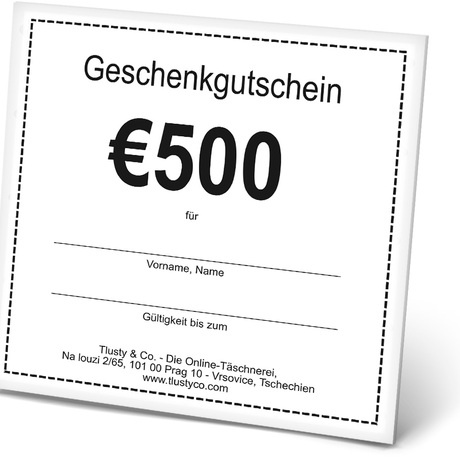 VOUCHER DE 500 Euro